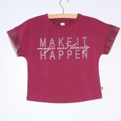 Коротка футболка з принтом для дівчинки