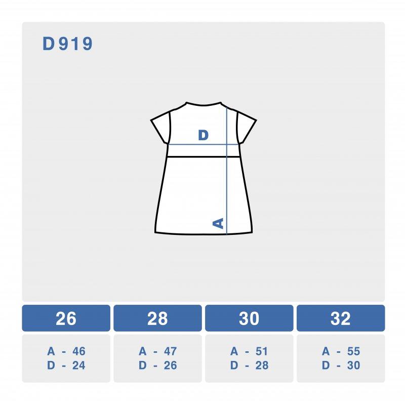 размерная сетка платья d919