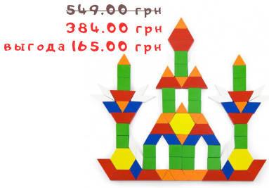 Деревянный игровой набор Цветная мозаика